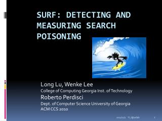 SURF: Detecting and Measuring Search Poisoning