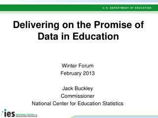 Delivering on the Promise of Data in Education