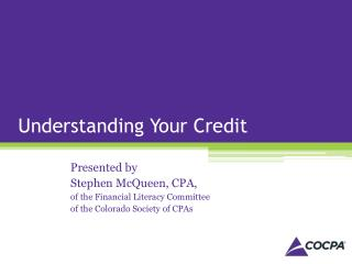 Understanding Your Credit