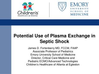 Potential Use of Plasma Exchange in Septic Shock