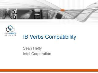 IB Verbs Compatibility