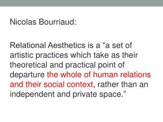 Nicolas  Bourriaud :