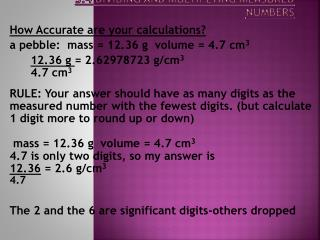3.4 Dividing and Multiplying Measured Numbers