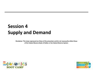 Session 4 Supply and Demand