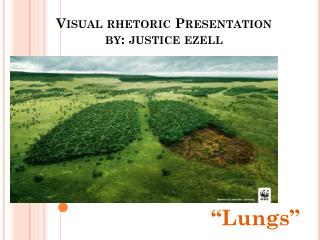 Visual rhetoric Presentation by: justice  ezell