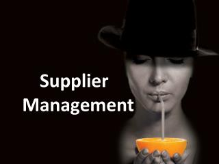 Supplier Management