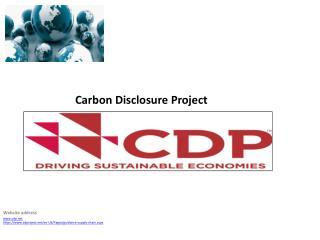 Website  address cdp