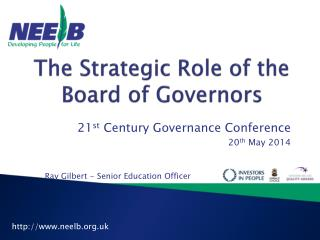 The Strategic Role of the Board of Governors