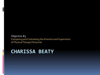 Charissa  Beaty