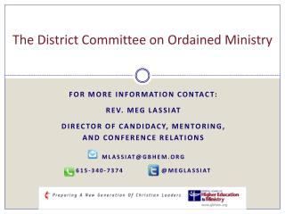 The District Committee on Ordained Ministry