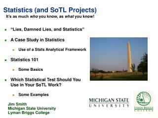 Statistics (and  SoTL  Projects)