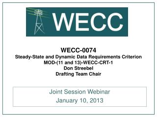 Joint Session Webinar January 10, 2013