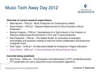 Music Tech Away Day 2012