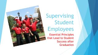 Supervising Student Employees