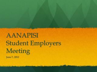 AANAPISI Student Employers Meeting