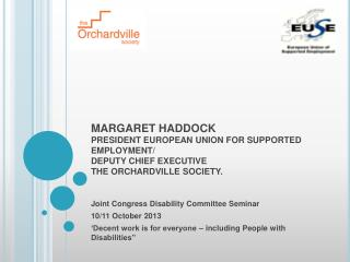 Joint Congress Disability Committee Seminar 10/11 October 2013