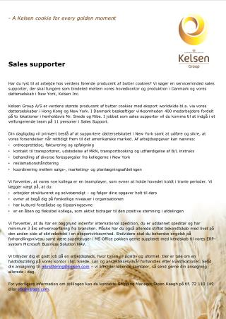 - A  Kelsen  cookie for every golden moment Sales supporter