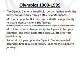 Olympics 1900-1909