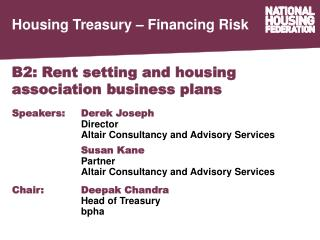 B2: Rent setting and housing association business plans