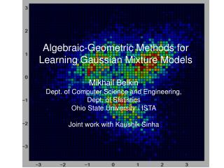 Algebraic-Geometric Methods for Learning Gaussian Mixture Models