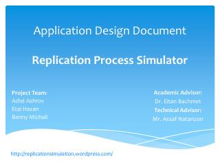 Application Design Document Replication Process Simulator