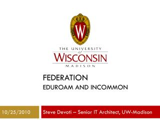 Federation eduroam and InCommon