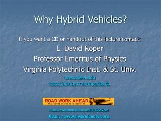 Why Hybrid Vehicles