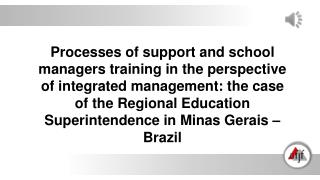 changes in the management model of education system AUTHORITARIAN PARTICIPATORY