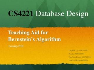 Teaching Aid for  Bernstein's Algorithm