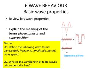 6 WAVE BEHAVIOUR Basic wave properties