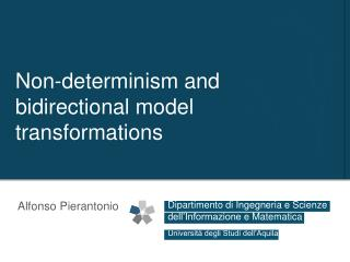 Non-determinism and bidirectional model transformations