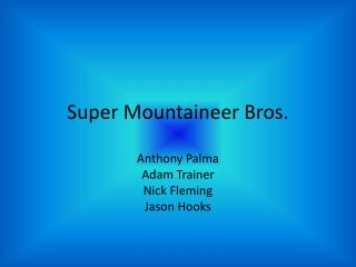 Super Mountaineer Bros.