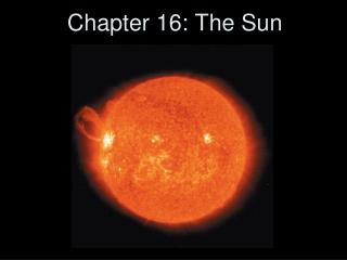 Chapter 16: The Sun