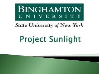 Project Sunlight