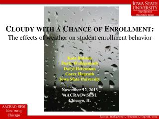 Cloudy with a Chance of Enrollment:  The effects of weather on student enrollment behavior