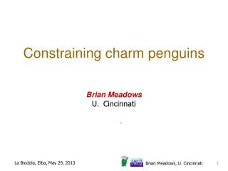 Constraining  c harm penguins