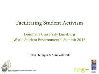 Facilitating  Student  Activism