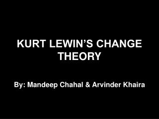KURT LEWIN S CHANGE THEORY