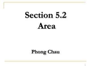 Section 5.2   Area Phong Chau