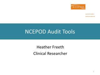 NCEPOD Audit Tools