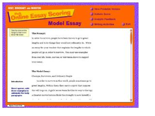 The Model  Essay Expository/Informative Writing