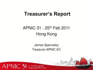 Treasurer�s Report