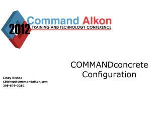 COMMANDconcrete Configuration