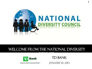 Welcome from the National Diversity Council