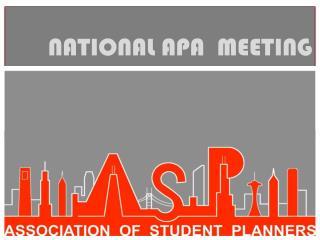 NATIONAL APA  MEETING