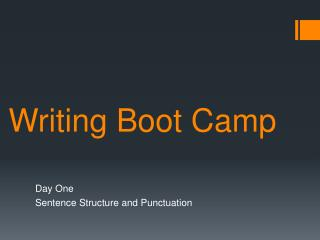 Writing  Boot Camp