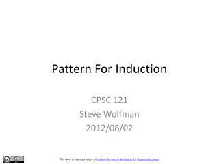 Pattern For Induction