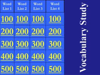 Word List 1