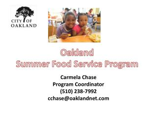 Oakland  Summer Food Service Program