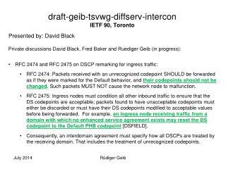 draft - geib -tsvwg- diffserv - intercon IETF  90, Toronto
